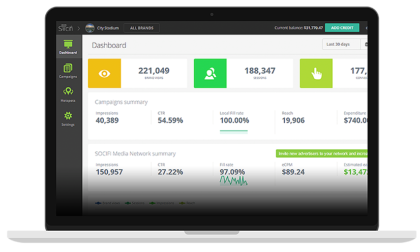 SOCIFI Cloud Dashboard